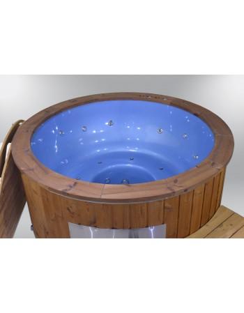 Exklusive Fiberglas Badetonne blaue Farbe 182cm