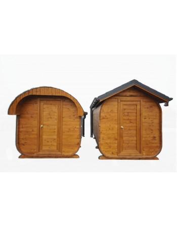 Sauna mit ovalem Dach