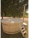Badezuber Kunststoff mit Ausarbeitung aus Tannenholz