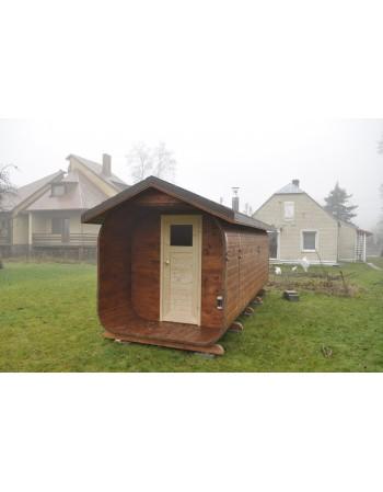 Sauna mit ovalem Dach 7 m