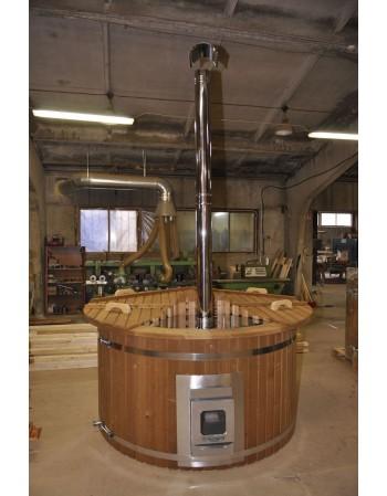 Badetonne Kunststoff Thermoholz 180cm