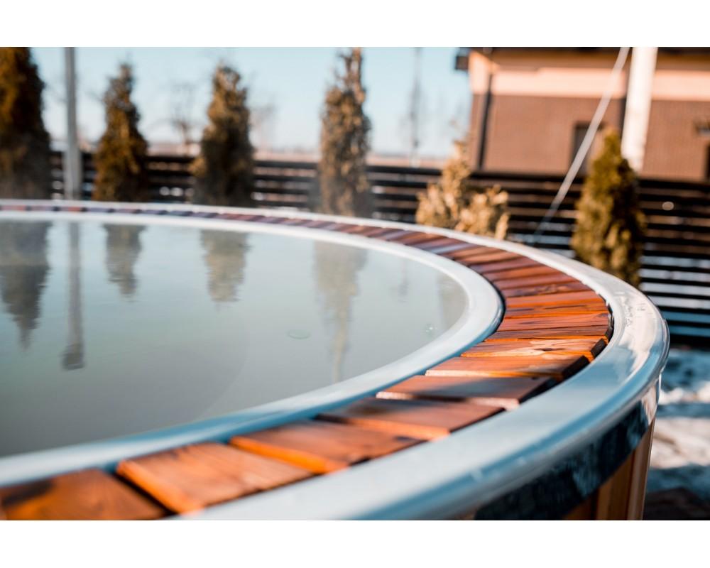 Fiberglas 1,9 m Badetonne mit Überlauf System