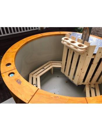 Außen-Whirlpool mit integriertem Ofen 1,6 m