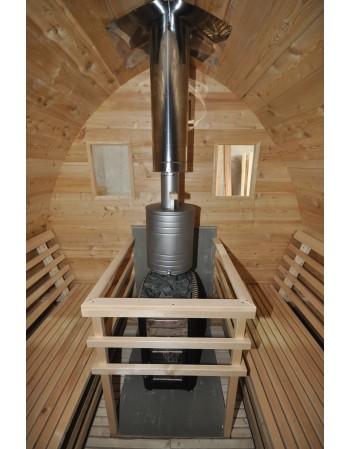 Spezielles Nirostagefäss für aufwärmen des Sauna Wassers