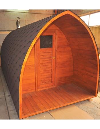Dach über die Saunatür (Länge: 1m)